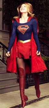 Love the joyful expression on her face Melissa Benoist as Supergirl from Melissa Benoist Daily.