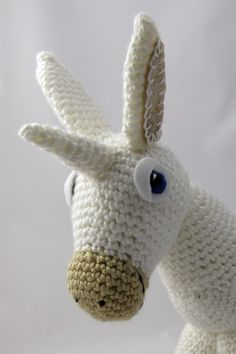 Rainbow Donkey / Unicorn Crochet Pattern by Squirrel Picnic Crochet Unicorn Pattern Free, Crochet Deer, Diy Crochet And Knitting, Crochet Toys, Free Crochet, Knitting Projects, Knitting Patterns, Crochet Patterns, Diy Yarn Bags