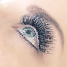 Eyelash extensions. This pretty set of volume lashes was done by Borboleta lash artist @hairandlashesbyalise