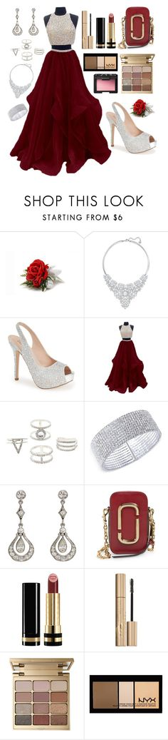 """""""Prom Night"""" by macmerta ❤ liked on Polyvore featuring Swarovski, Lauren Lorraine, Charlotte Russe, Anne Klein, Marc Jacobs, Gucci, Stila, NYX and NARS Cosmetics"""