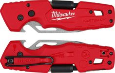 Milwaukee Fastback Knife Multi-Tool Closed and Belt Clip New Milwaukee Tools, Backyard Storage Sheds, Shed Storage, Lock Style, Edc Knife, Edc Gear, Work Tools, Cool Inventions, Shopping