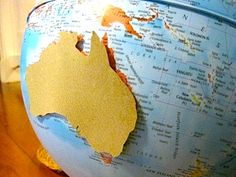 Sandpaper globe for visually impaired students
