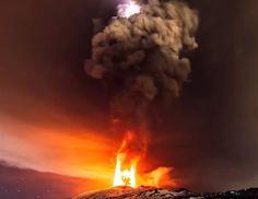 El volcan  Etna entra en erupción por primera vez en dos años