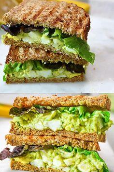 Avocado Recipes, Lunch Recipes, Low Carb Recipes, Salad Recipes, Vegetarian Recipes, Dinner Recipes, Cooking Recipes, Healthy Recipes, Meals With Avocado