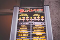 Have you ever tried the Berthillon ice creams? This is something you have to do when you visit us on the île Saint-Louis in Paris! Ile Saint Louis, St Louis, Caramel, Sorbets, Cacao, Ice Cream, Good Things, Paris, Desserts