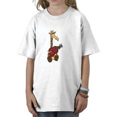 Awesome Giraffe Playing Guitar Shirts #giraffe #music #shirt #funny #animals #guitar #art #humor #zazzle #petspower