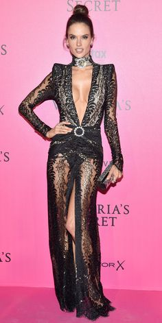 15 Jaw-Dropping Looks from the Victoria's Secret Fashion Show After-Party - Alessandra Ambrosio from InStyle.com