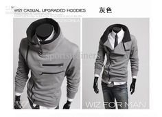 Wholesale Hoody - Buy Korean Style Men Mens Workout Clothes Men Double Layer Collar Clothing for Men Hoodies Street Fashion Hoodies for Men Hood, $33.0 | DHgate