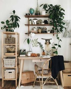 Home Deco Ideas Bathroom Cute Earthy Home Office Vibes with .- Home Deko-Ideen Badezimmer Cute Earthy Home Office Vibes mit einer Auswahl von Z… Home Deco Ideas Bathroom Cute Earthy Home Office Vibes with a selection of indoor plants - Tumblr Room Decor, Tumblr Rooms, Decor Room, Science Room Decor, Home Design, Interior Design, Nordic Interior, Interior Ideas, Bath Design