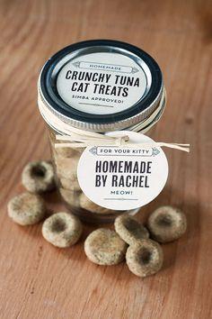DIY Pets : Reward Your Favorite Feline With These Crunchy Tuna Treats Crunchy Tuna Cat Treats Recipe Tuna Cat Treat Recipe, Homemade Cat Food, Homemade Recipe, Diy Recipe, Pet Treats, Kitten Treats, Healthy Cat Treats, Yorkshire Terrier, Dog Food Recipes