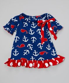 Look what I found on #zulily! Blue Whales Tail Peasant Tunic - Infant, Toddler & Girls by Corky's Kids #zulilyfinds