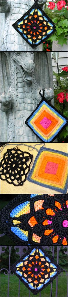Crochet Fantastic Square Afghan Block with Free Pattern