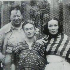 Diego Rivera, Frida Kahlo, y Dolores Del Rio