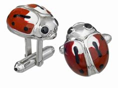 Jan Leslie's Ladybug Cufflinks Cufflinks, $375