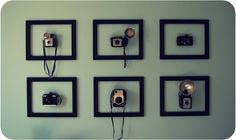 Thinking of what to do with your old cameras that are just gathering dust and mold? Clean them and hang them up seems like a splendid idea!