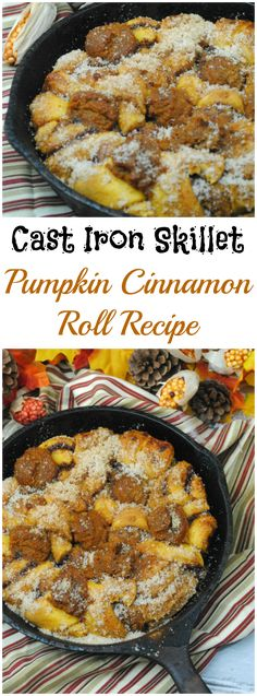 Now that we finished with our apple recipes, how about some pumpkin recipes. Today we have a Cast Iron Skillet Pumpkin Cinnamon Roll recipe. Easy Sweets, Sweets Recipes, Apple Recipes, Pumpkin Recipes, Desserts, Brunch Ideas For A Crowd, Make Ahead Brunch Recipes, Cast Iron Skillet Cooking, Iron Skillet Recipes