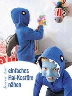 Raffiniertes Hai-Kostüm ~ schnell selbstgemacht #DIY