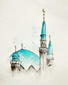 Kpop Drawings, Art Drawings, Islamic Wallpaper Hd, Architecture Drawing Art, Islamic Cartoon, Anime Pixel Art, Islamic Paintings, Surreal Photos, Islamic Art Calligraphy