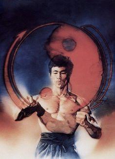 Bruce Lee Online Gallery / The Art of Martial Arts Bruce Lee Kung Fu, Bruce Lee Art, Bruce Lee Martial Arts, Martial Arts Movies, Martial Artists, Bruce Lee Frases, Eminem, Bruce Lee Pictures, Legendary Dragons