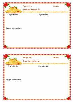 recipe card template microsoft word .