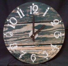 15 Inch RUSTIC RECYCLED Wall CLOCK from a by ClocksByHomestead