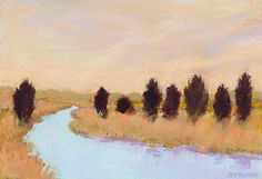 Small format landscape paintings by Lara Broecke on Etsy