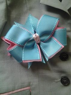 Medium Horse Show Bow w/out Tails Single Bow by ShortStirrupBling, $15.00