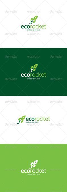 Eco Rocket Logo — Photoshop PSD #progress #process • Available here → https://graphicriver.net/item/eco-rocket-logo/8166920?ref=pxcr
