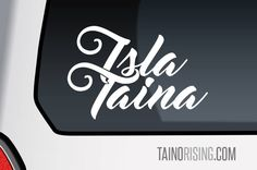 Isla Taina Laptop Car Window Decal by Taino Rising Arawak Indian Native American Pride Puerto Rico Boricua Borinquen Boriken by Taino Rising by TainoRising on Etsy https://www.etsy.com/listing/539405542/isla-taina-laptop-car-window-decal-by