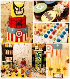 Superhero themed birthday party via Kara's Party Ideas