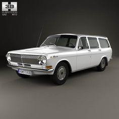 GAZ 24 Volga combi 1967 3d model from humster3d.com. Price: $75