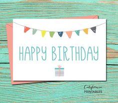 Collective, Happy Birthday Printable Card #affiliate #printable