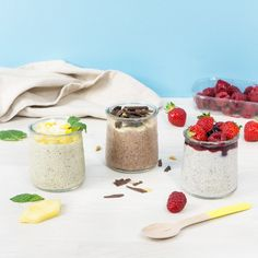 Mes recettes pour un super chia pudding - Anaïs Cassis Framboise Smoothie Bowl, Smoothies, Chia Pudding, Breakfast Time, Vegan Desserts, Healthy Eating, Healthy Food, Brunch, Food And Drink