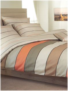 Housse couette +2taies Lime orange