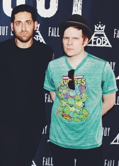 Aww Patrick in a Ninja Turtles shirt! His favorite is Donatello (it's probably sad that I know that)