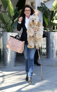 Lisa Vanderpump Photos - Reality TV star Lisa Vanderpump takes her pooch shopping in Beverly Hills on March 8, 2016. - Lisa Vanderpump Shops with Her Dog