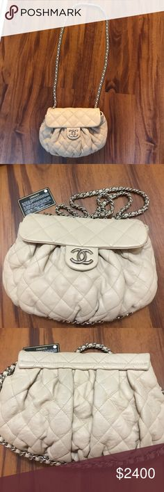 Chanel bag( Authentic) Beige, excellent condition, very clean, no wear, tear, no damage CHANEL Bags Crossbody Bags