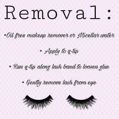 Fake Eyelashes, False Lashes, Girly Things, Girly Stuff, How To Remove, How To Apply, Micellar Water, Falsies, Beauty Bar