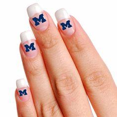 Michigan Wolverines 4-Pack Temporary Nail Tattoos