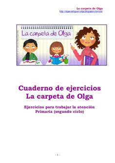 Cuaderno ejercicios la carpeta ( 3º prim) by Olga via slideshare