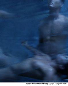 Atlantis: Robert & Chantelle Newberry, Olympic diving medalists, by Paul Freeman