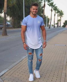 Dope Fashion, Denim Fashion, Fashion Outfits, Men Street Look, Outfits Hombre, Casual Wear For Men, Mens Style Guide, Street Outfit, Stylish Men