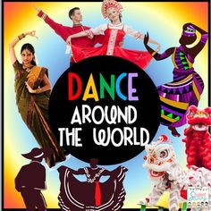 Dance Around the World UnitInclude dance and multicultural fun in your… Teach Dance, Learn To Dance, Movement Activities, Music Activities, Freeze Dance, Cultural Dance, Dance Project, Celebration Around The World, Cultural Studies