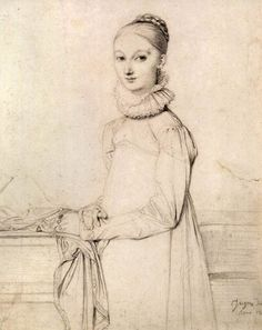 Jean-Auguste-Dominique Ingres, Portrait of a girl, 1815, The Hermitage, St.Petersburg