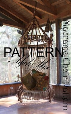 ******PLEASE READ!!!******* THIS LISTING IS FOR THE DO IT YOURSELF MACRAME PATTERN ONLY!! NOT FOR THE ACTUAL CHAIR!! THANK YOU!**  This is a