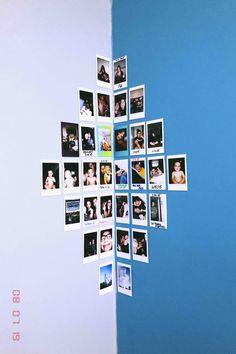 corner bedroom photo wall