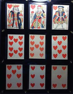 1780 Lebrun Painted  Playing Cards