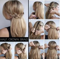 Easy Party Hairstyles For Long Hair Step By Step For Medium Hair - 15 easy rules of simple hairstyle for party New Simple Hairstyle, Party Hairstyles For Long Hair, Pretty Hairstyles, Braided Hairstyles, Hairstyle Ideas, Graduation Hairstyles With Cap, Perfect Hairstyle, Easy Hairstyle, Brown Hair With Blonde Balayage
