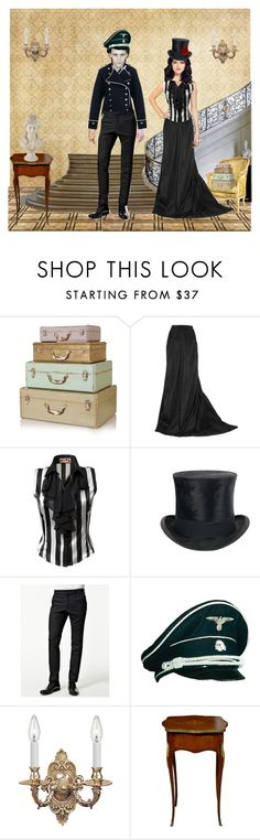 """""""Aboard The Ship"""" by slytherin-pirate-chick ❤ liked on Polyvore featuring Lanvin, JJ Park, Jayson Home, Filippa K, Crystorama and Universal Lighting and Decor"""