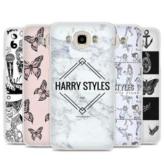 Harry One Direction Tattoos Phone Case Cover for Samsung Galaxy J1 J2 J3 J5 J7 C5 C7 C9 E5 E7 2016 2017 Prime